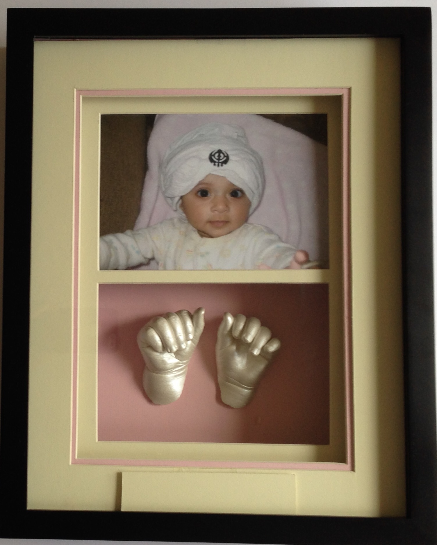 Double window shadow box lifelasting memories yours forever baby hand starting 22500 jeuxipadfo Image collections